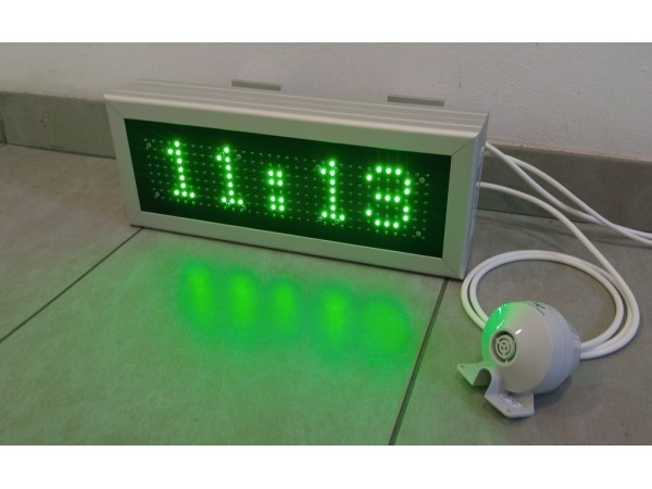 Ceas electronic cu LED-uri model 12, 410mm x 160mm, DP10, dotat cu sonerie externa