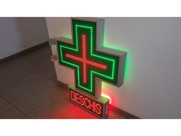 Cruce farmacie 800 x 800 CLASIC cu afisaj DESCHIS