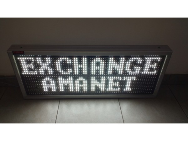 Afisaj electronic cu LED-uri 846x342, doua randuri, DP12mm