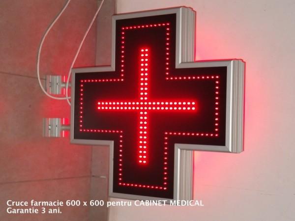 Cruce luminoasa 600 x 600 ECONOMY - CABINETE MEDICALE