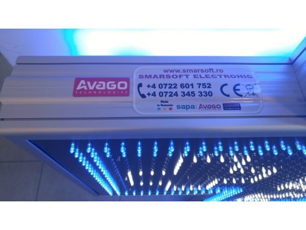 Cruce farmacie 1200 x 1200 PREMIUM, LED-URI ALBASTRE si ALBE