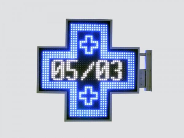 Cruce farmacie 900mm model MIXT, LED-uri albastre si albe