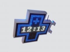 Cruce cu LED-uri 700mm x 700mm model MIXT, LED-uri albe si albastre