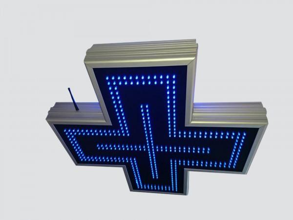 Cruce farmacie 700mm ECONOMY LED-uri AVAGO albastre