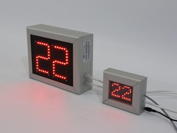 Sistem de afisaje LED sincronizate pentru SALILE de ASTEPTARE