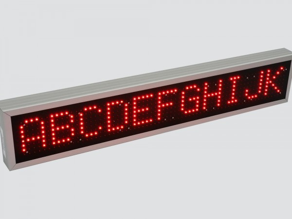Afisaj electronic 1140mm x 212mm, DP16, comanda ModBus