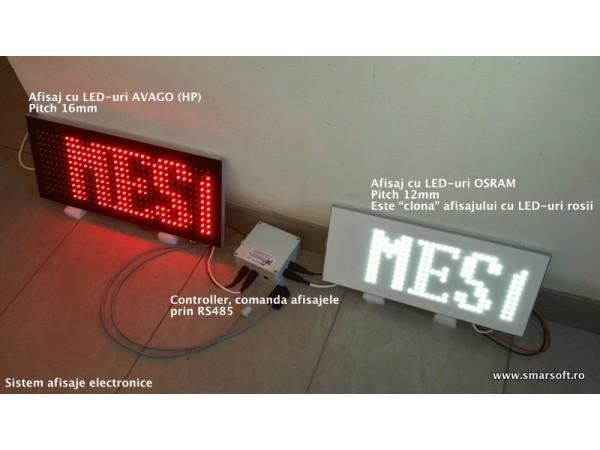 Sistem electronic format din afisaje sincronizate