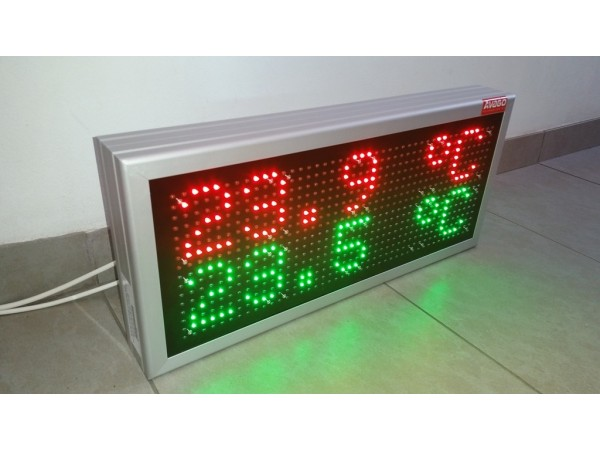 Afisaj electronic 606mm x 270mm, DP12mm, afisare temperatura