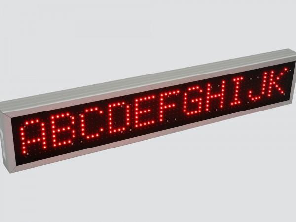 Afisaj electronic 1140mm x 212mm,DP16mm, programare dintr-un PLC SIEMENS