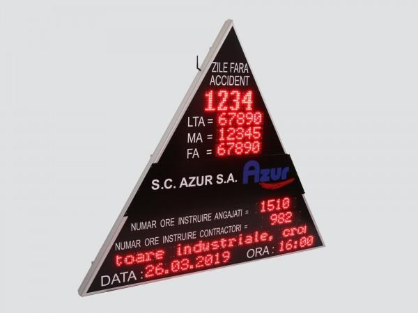 Afisaj electronic COMPLEX, forma triunghiulara, afiseaza indicatori SSM si mesaje informative