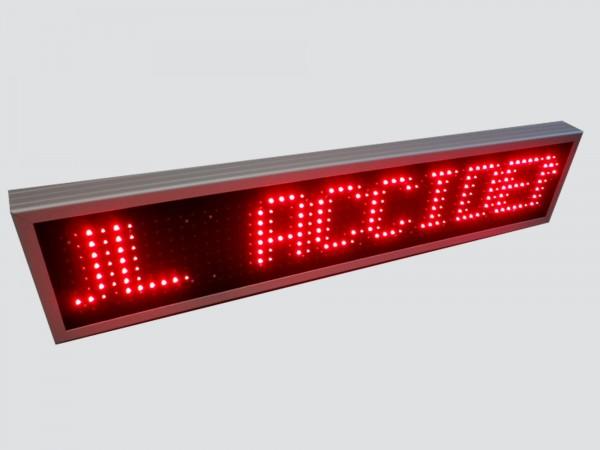 Numarator automat cu LED-uri, 9 caractere, dimensiuni 1190 x 250, DP 20mm