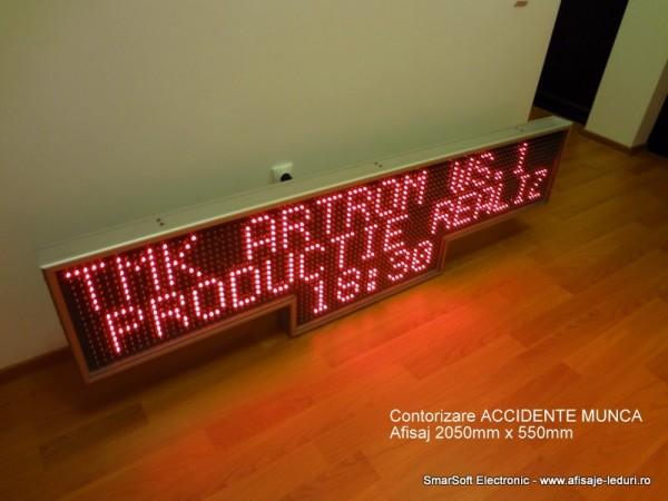 Afisaj electronic 2070 x 570 contorizare zile accident de munca