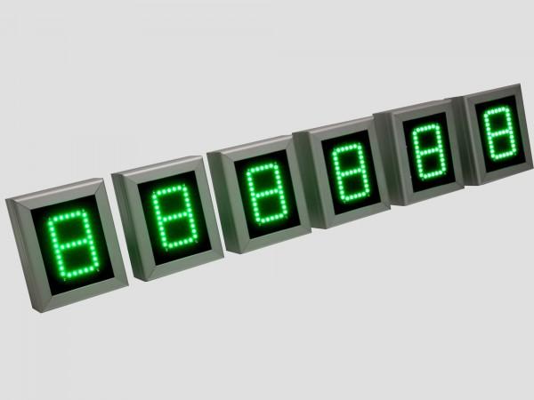 Numarator cu LED-uri, 1 caracter, digit 60 x 100
