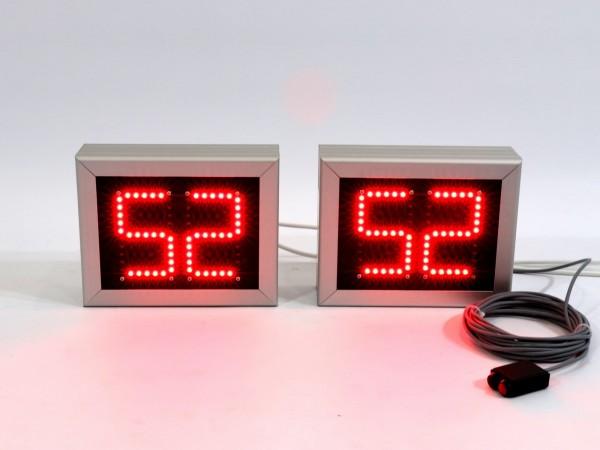 Sistem 2 numaratoare cu LED 242mm x 191mm, digit 60 x 100, sincronizate prin fir