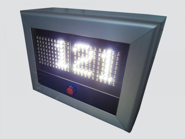 Numarator cu LED-uri 4 caractere, dimensiuni 180 x 150, DP 6mm