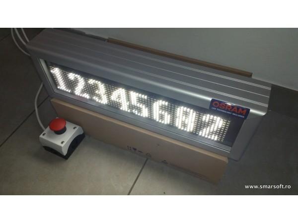 Numarator cu LED-uri 8 caractere, dimensiuni 468 x 150,DP 6mm