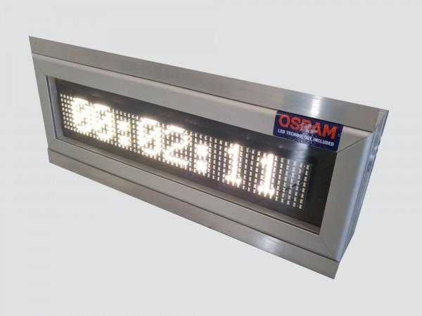 Cronometru cu LED-uri, 414mm x 132mm, DP6mm, format HH:MM:SS, LED-uri OSRAM