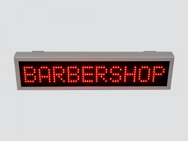 Reclama cu LED-uri BARBERSHOP