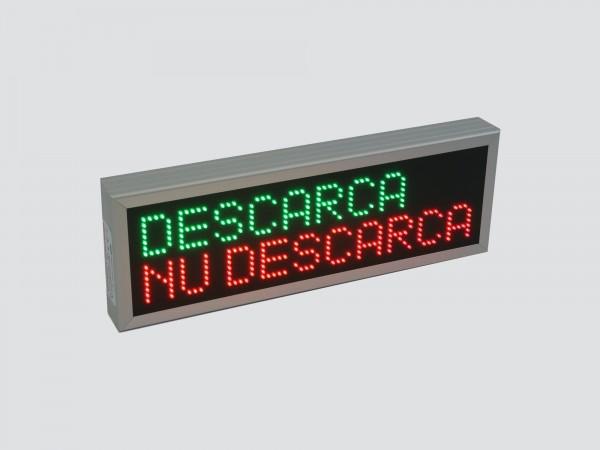 Reclama cu LED-uri 700mm x 240mm, DESCARCA / NU DESCARCA