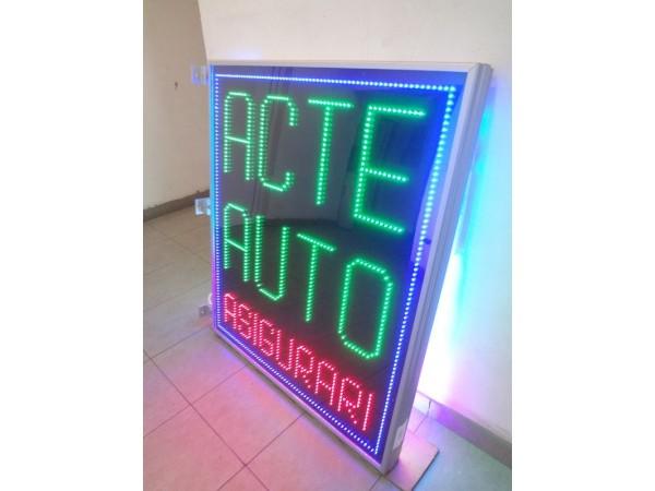 Reclama cu LED-uri pentru ACTE AUTO, ASIGURARI