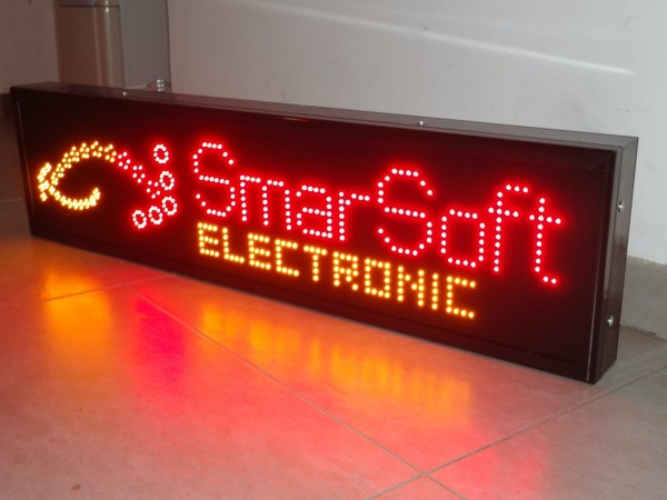 Reclama cu LED-uri SIGLA SMARSOFT ELECTRONIC