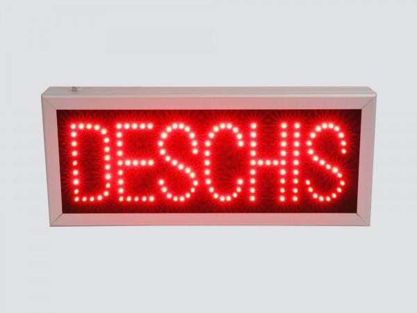 Reclama cu LED-uri DESCHIS
