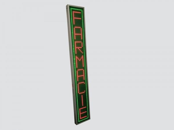 Reclama verticala cu LED-uri, 330mm x 2200mm, model FARMACIE