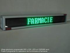 Afisaj electronic 948 x 150, afisare 1 rand, DP 6mm
