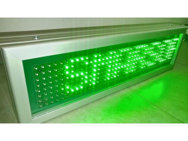 Afisaj cu LED-uri 606 x 174, afisare un rand, DP 12mm