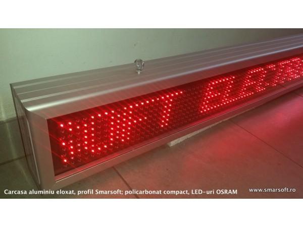 Afisaj cu LED-uri 1398 x 174, afisare pe un rand, DP 12mm
