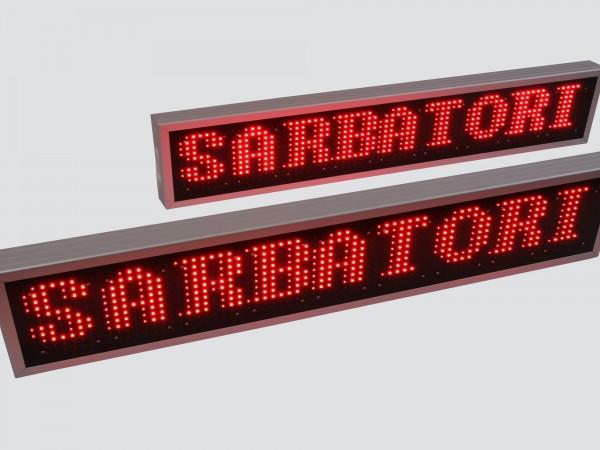 Afisaj electronic cu LED-uri 1236 x 260, afisare un rand, DP16
