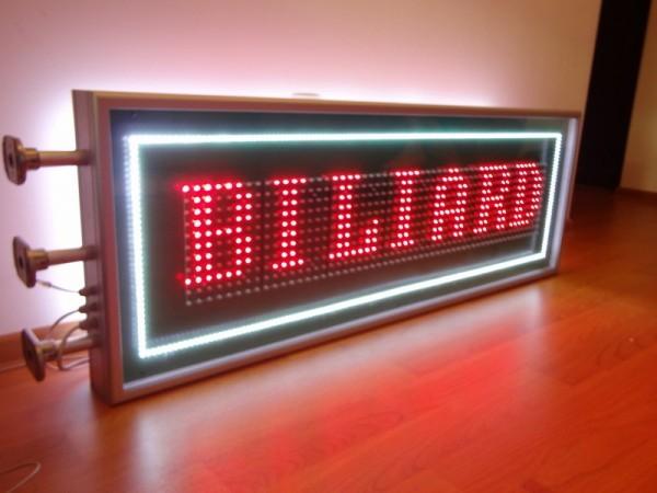 Afisaj cu LED-uri 1410 x 510, afisare 1 rand, bordare LED-uri exterior