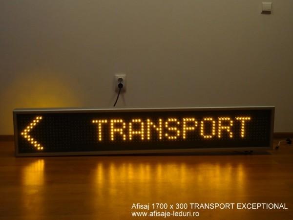 Afisaj cu LED-uri 1700 X 300, afisare 1 rand, TRANSPORT EXCEPTIONAL