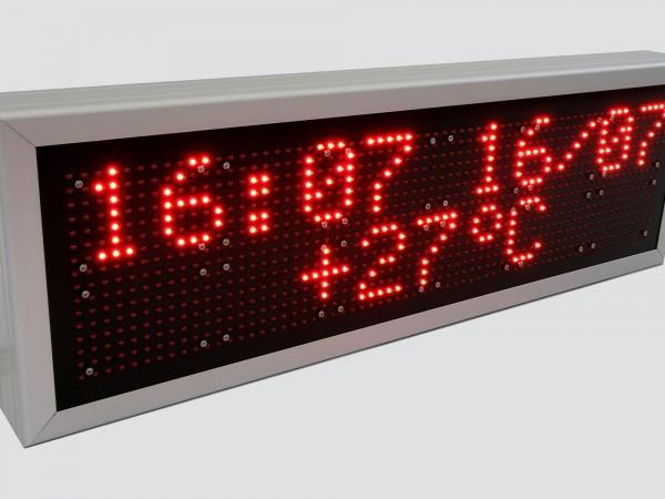 Afisaj electronic cu LED-uri 740mm x 240mm, DP10mm, doua randuri