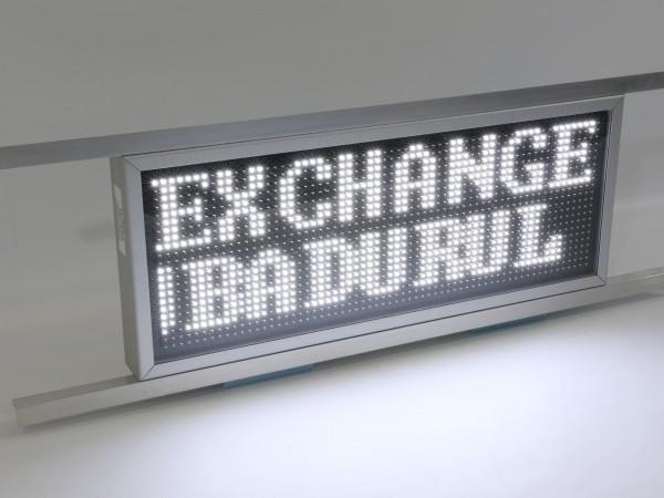 Afisaj electronic cu LED-uri 846mm x 342mm, doua randuri, DP12mm