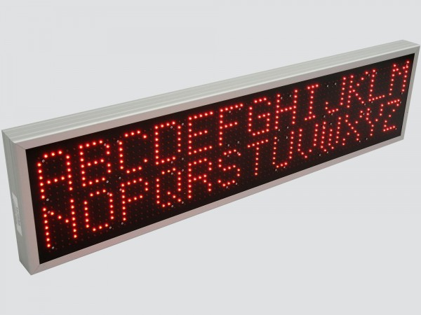 Afisaj electronic cu LED-uri 1316mm x 340mm, DP 16mm