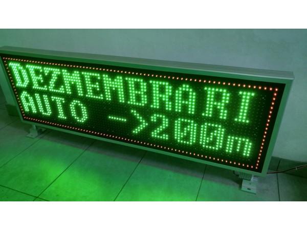 Afisaj electronic cu LED-uri, 1560mm x 500mm, afisare doua randuri, DP16mm