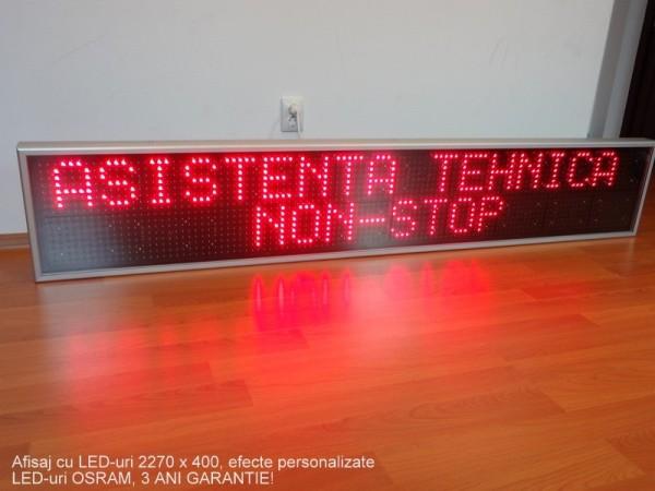 Afisaj cu LED-uri 2290 x 410, afisare 2 randuri sau 1 rand