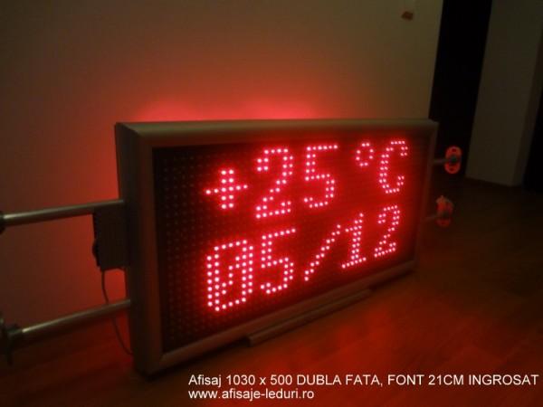 Afisaj electronic 1050 x 530, afisare doua randuri