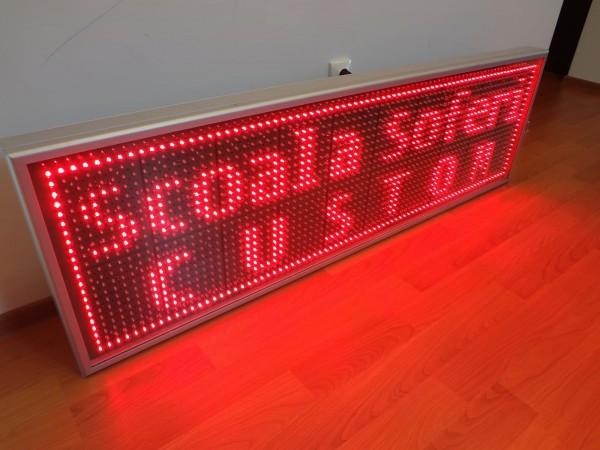 Afisaj cu LED-uri 1690 x 530, afisare 2 randuri