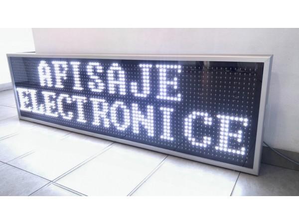 Sistem doua afisaje sincronizate prin fir, 1850mm x 530mm, DP20, LED-uri ALBE OSRAM