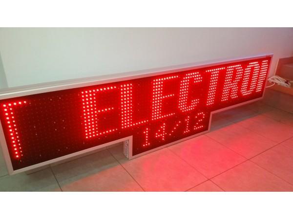 Afisaj electronic 2070mm x 570mm, carcasa forma speciala