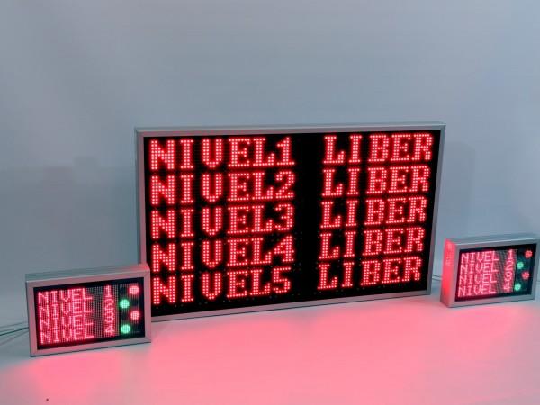 Sistem electronic cu LED-uri pentru PARCARE