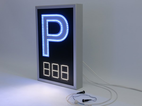 Panou electronic cu LED-uri pentru PARCARE, 400mm x 590mm
