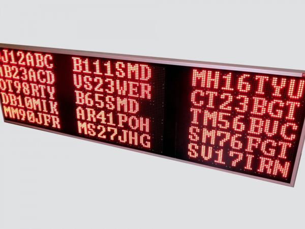 Afisaj electronic pentru PARCARI 2576mm x 740mm, DP12mm