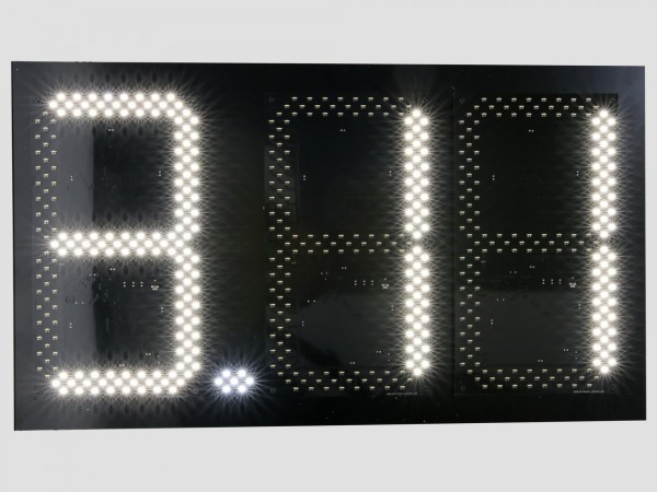 Pret BENZINARIE format X.XX, marime digit 160mm x 304mm, LED-uri OSRAM ALBE