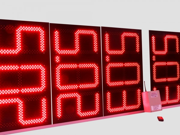 Pret BENZINARIE format X.XX, digit 160x304, LED-uri ROSII BROADCOM(AVAGO)