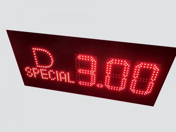 Afisaj electronic pentru BENZINARII, fara carcasa externa, digit 98x182, LED-uri rosii AVAGO