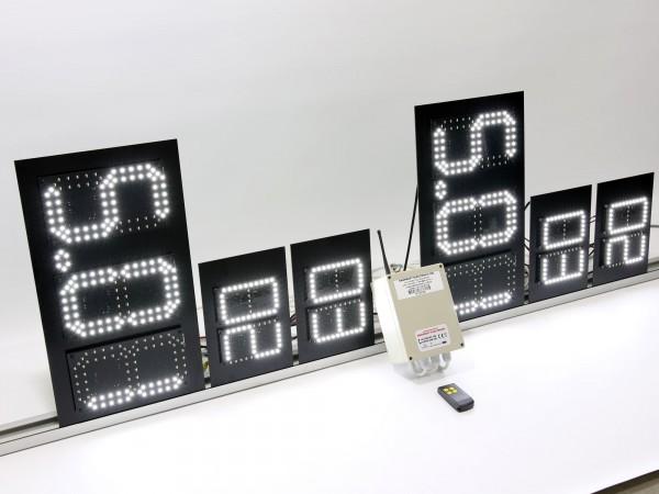 Sistem electronic cu LED-uri pentru  afisare pret GPL si preturi BUTELII DE ARAGAZ