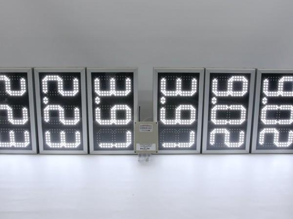 Afisaj electronic 485mm x 273mm, digit 98mm x 182mm incarcasat, simpla fata
